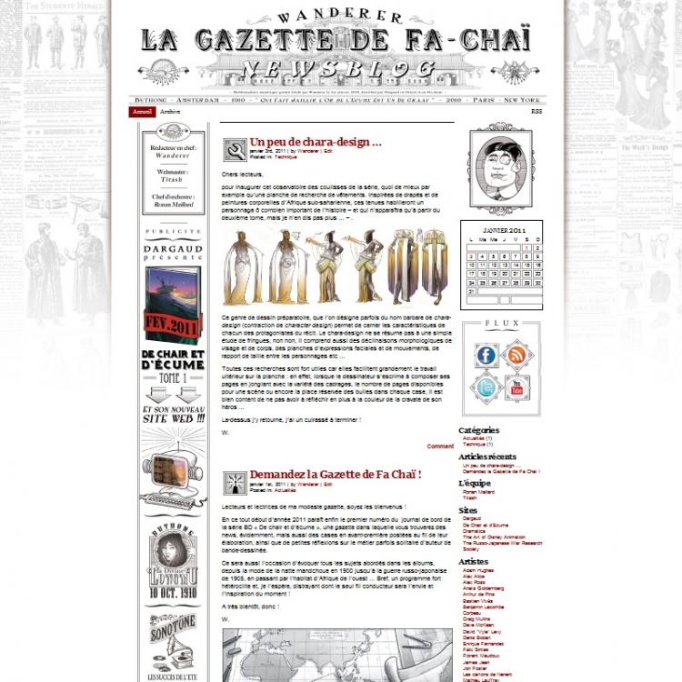 Site Officiel - Dargaud - Wanderer - De chair et d'écume (Web Design by Titash)