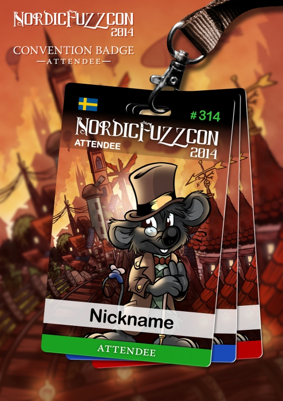 NordicFuzzCon 2014 Badges : Attendee (by Titash)