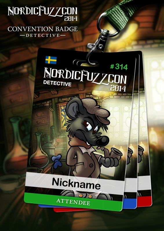 NordicFuzzCon 2014 Badges : Detective (by Titash)