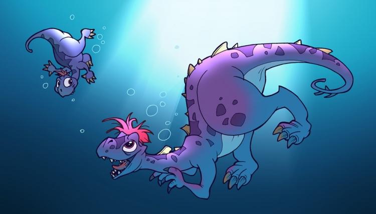 Nage avec les dinosaures