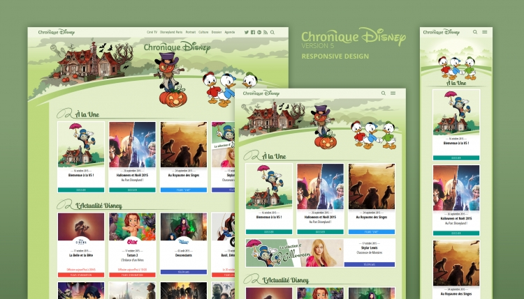 Chronique Disney V5 : Responsive Webdesign