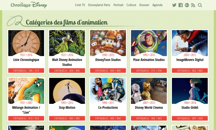 Chronique Disney V5 : Listes
