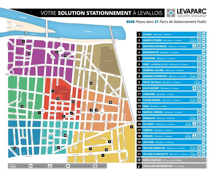 Levaparc : Plan de Levallois